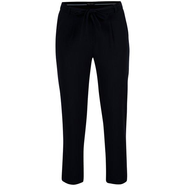 Pantaloni bleumarin cu talie inalta si funda - ONLY Michelle