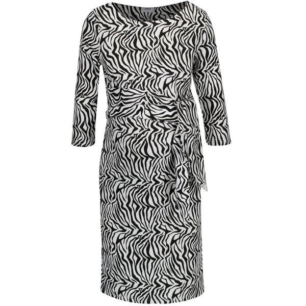 Rochie cu print zebra si cordon in talie pentru femei insarcinate – Mama.licious Zebra