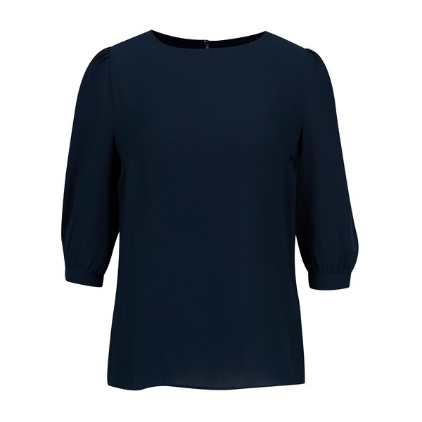 Bluza bleumarin cu maneci bufante Dorothy Perkins