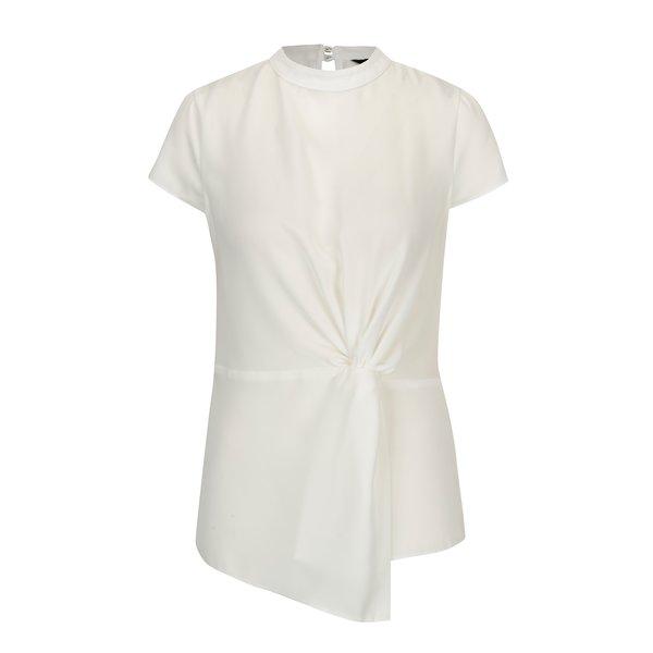 Bluza asimetrica crem cu nod decorativ Dorothy Perkins