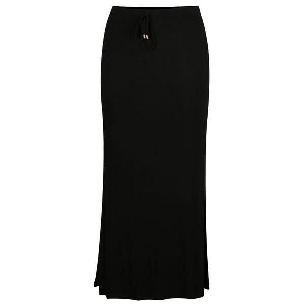 Fusta maxi neagra cu talie elastica Dorothy Perkins Curve