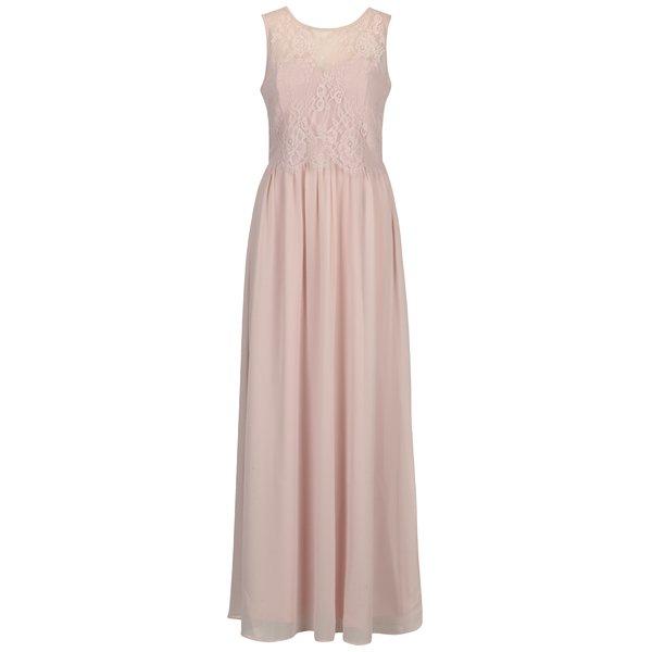 Rochie lunga roz pal cu top din dantela - Dorothy Perkins