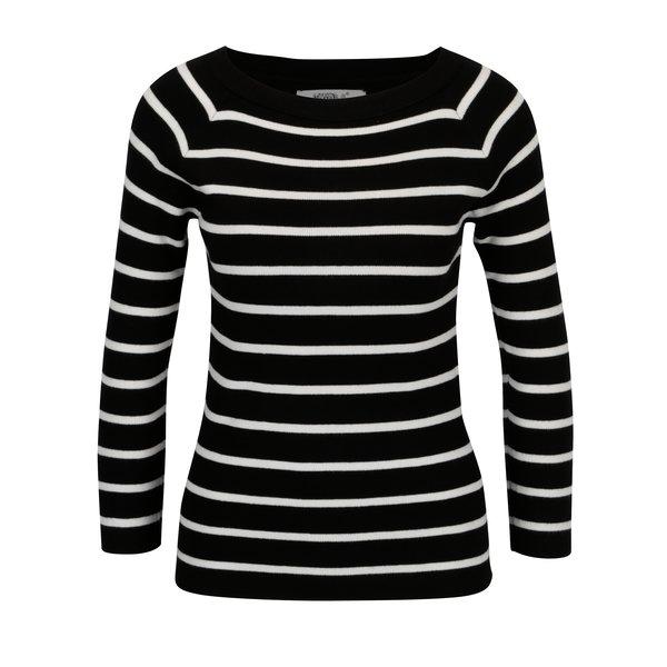 Pulover negru cu model in dungi - Hailys Lina