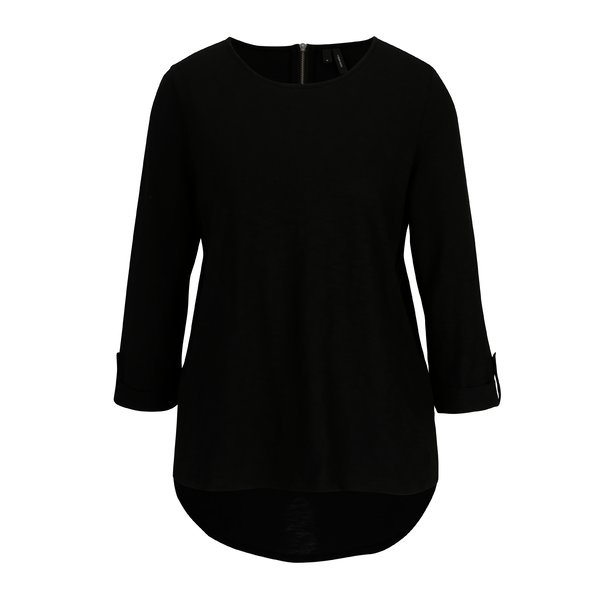 Bluza neagra cu maneci 3/4 VERO MODA Malka
