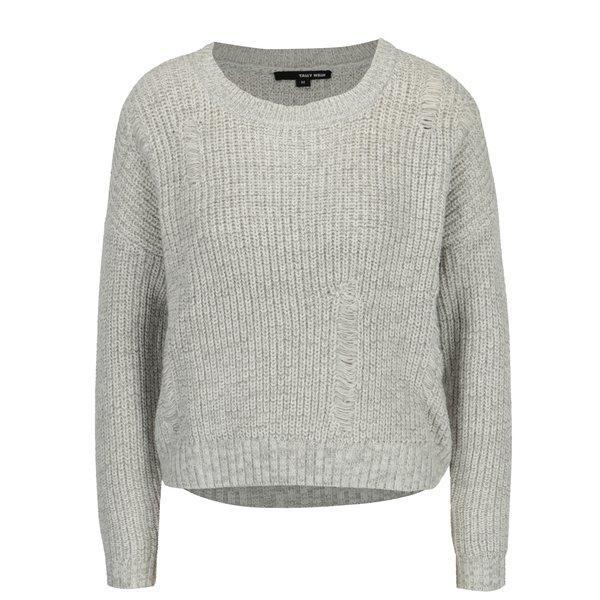 Pulover tricotat gri deschis - TALLY WEiJL