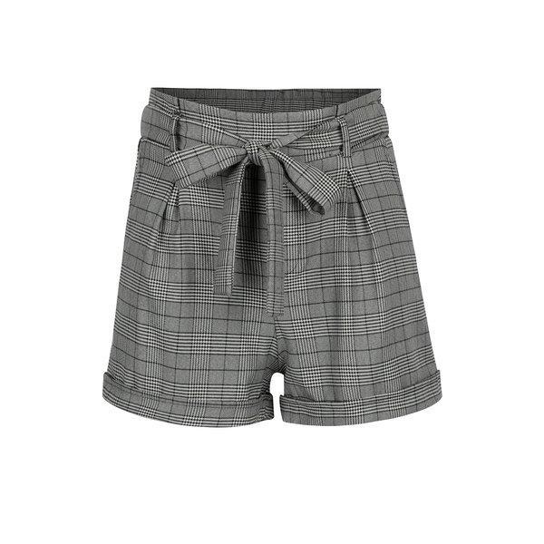 Pantaloni scurti cu talie inalta si carouri - TALLY WEiJL
