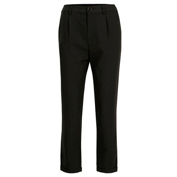 Pantaloni negri cu pense si talie inalta - TALLY WEiJL