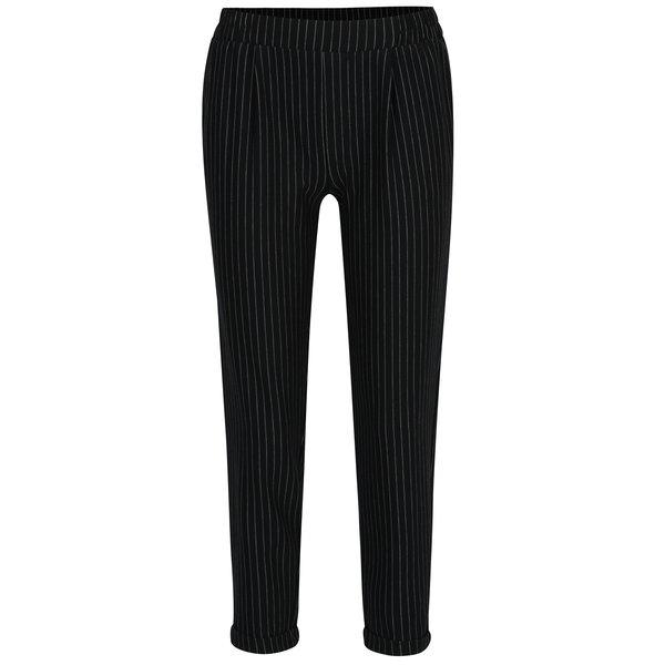Pantaloni bleumarin cu dungi si talie elastica - TALLY WEiJL