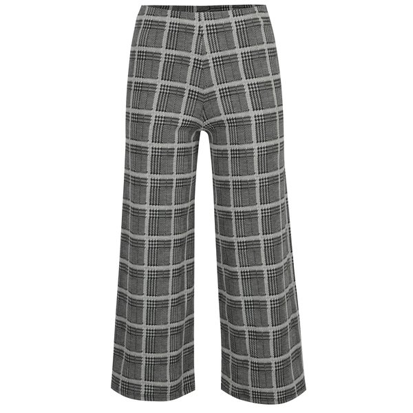 Pantaloni culottes cu carouri si houndstooth - TALLY WEiJL