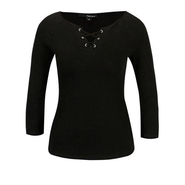 Bluza neagra cu snur incrucisat si maneci 3/4 - TALLY WEiJL