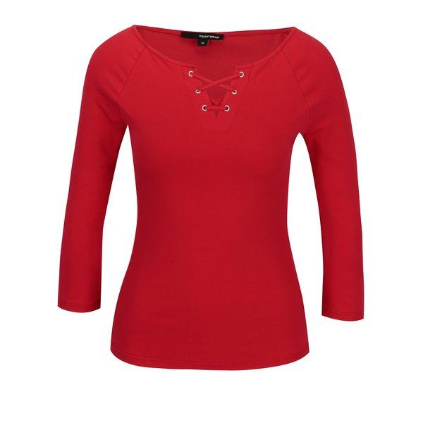 Bluza rosie cu snur incrucisat si maneci 3/4 - TALLY WEiJL