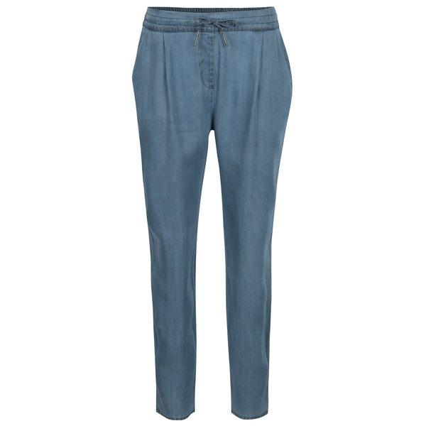 Pantaloni albastri cu talie elastica si buzunare - VERO MODA Rory