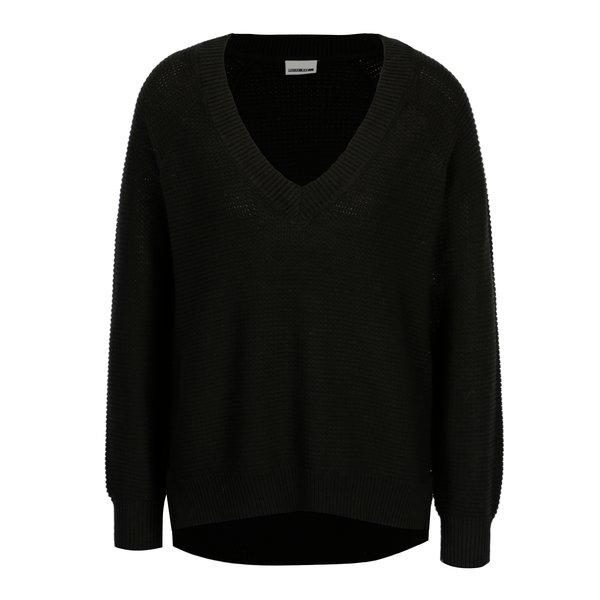 Pulover negru cu decolteu anchior - Noisy May Ayi