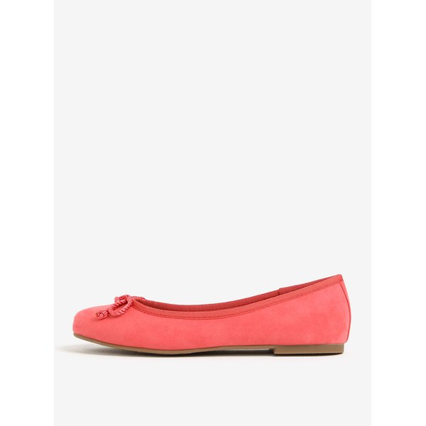 Balerini roz cu aspect de piele sintetica - Tamaris