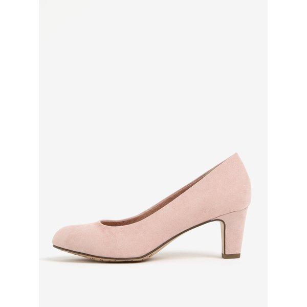 Pantofi roz din cu toc piele sintetica Tamaris
