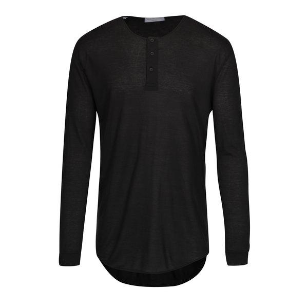 Bluza oversized neagra cu nasturi Selected Homme Splint