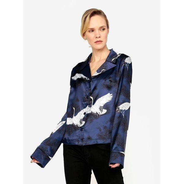 Bluza bleumarin cu print - MISSGUIDED