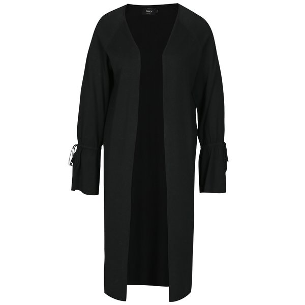 Cardigan lung negru cu maneci clopot - ONLY Belina