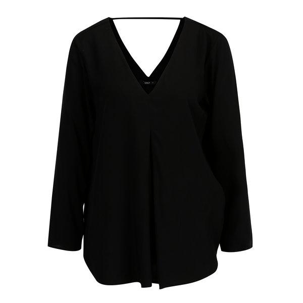 Bluza neagra cu decolteu anchior dublu - ONLY Nova
