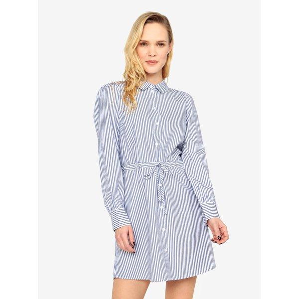 Rochie camasa alba cu dungi albastre – Jacqueline de Yong Lucky