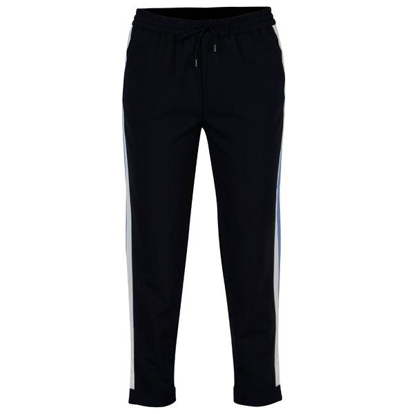 Pantaloni belumarin cu talie inalta si dungi contrastante laterale - ONLY Roma