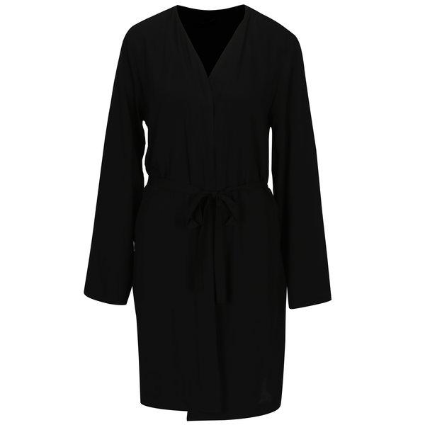 Cardigan negru cu cordon in talie – ONLY Nova