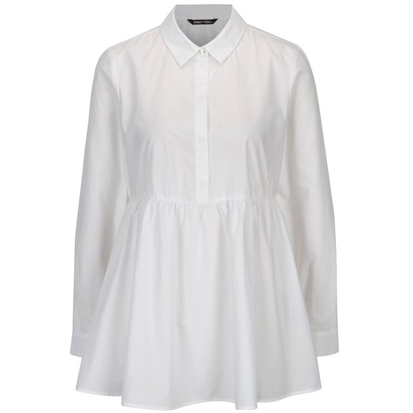 Bluza alba cu peplum si nasturi - ONLY YOU Helen