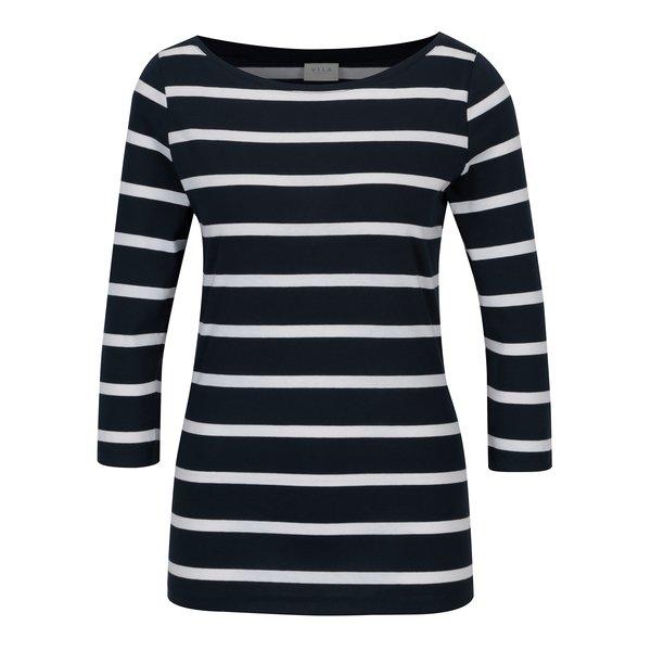 Bluza bleumarin cu dungi albe VILA Striped