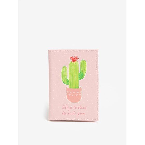 Portofel roz deschis pentru pasaport - Sass & Belle