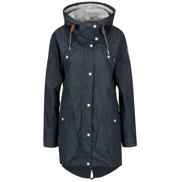 Jacheta parka albastra cu gluga pentru femei - Ragwear Clancy