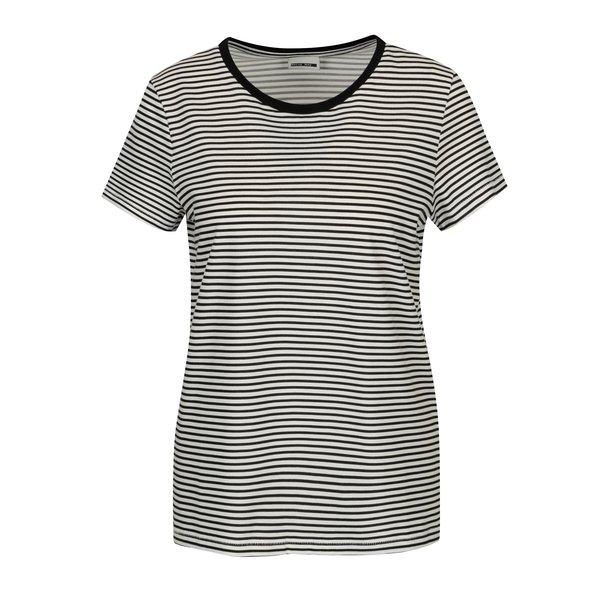 Tricou alb & negru cu print in dungi - Noisy May Shelly