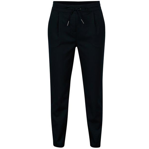 Pantaloni conici bleumarin cu talie elastica - VERO MODA Rory