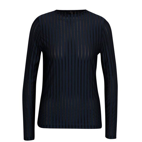 Bluza bleumarin cu dungi si insertii transparente - VERO MODA Ann