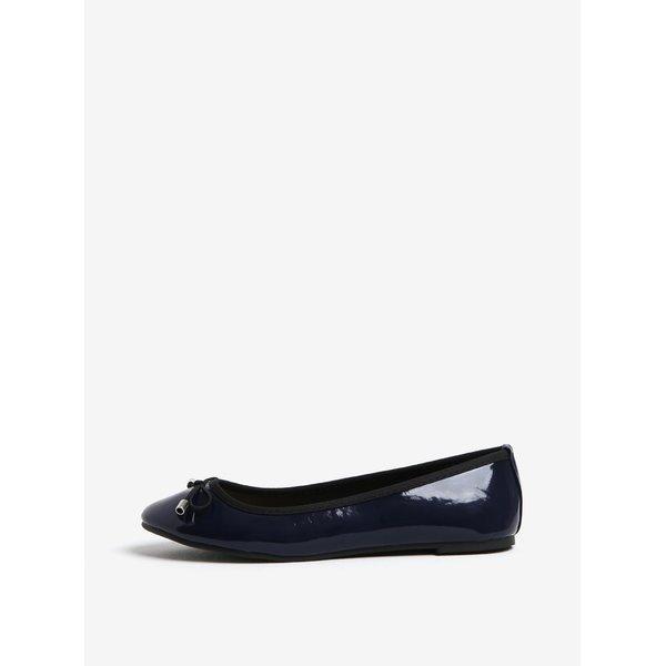 Imagine indisponibila pentru Balerini albastru inchis cu funda si aspect lucios - Dorothy Perkins