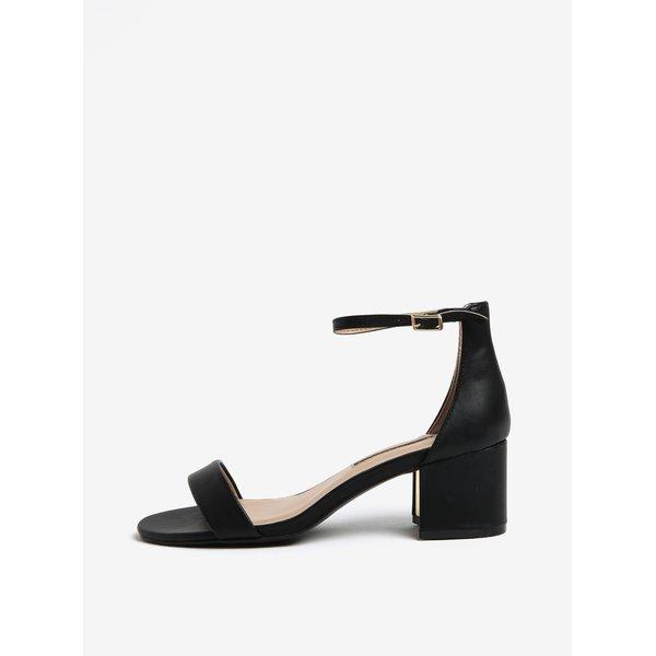 Sandale negre cu toc si calcai acoperit Dorothy Perkins