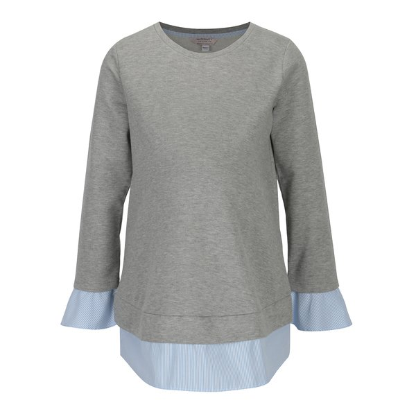 Bluza gri melanj cu aspect 2 in 1 pentru femei insarcinate - Dorothy Perkins Maternity