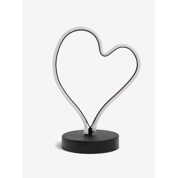 Lampa LED in forma de inima cu lumina rosie - Kaemingk