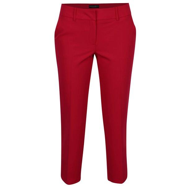 Pantaloni rosii cu talie joasa si buzunare - Dorothy Perkins