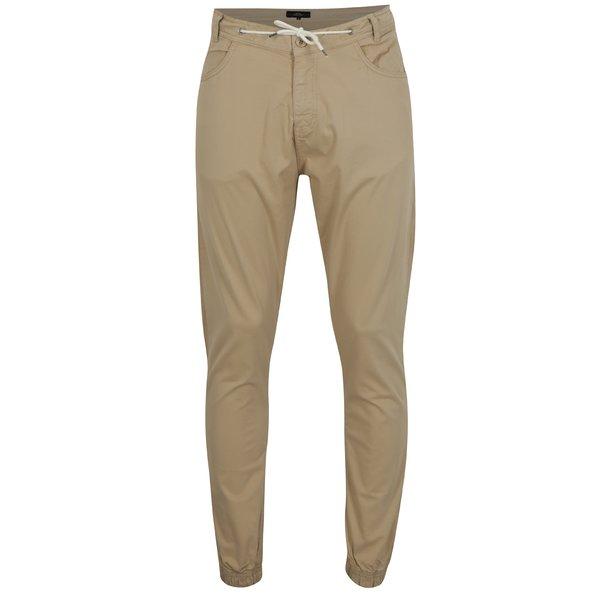Pantaloni bej cu snur in talie si buzunare - Makia Nautical