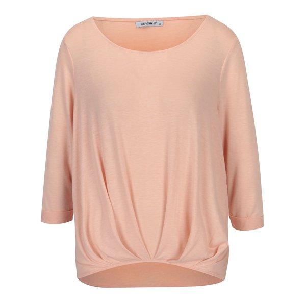 Bluza roz piersica cu pliuri si maneci 3/4 – Haily´s Mara