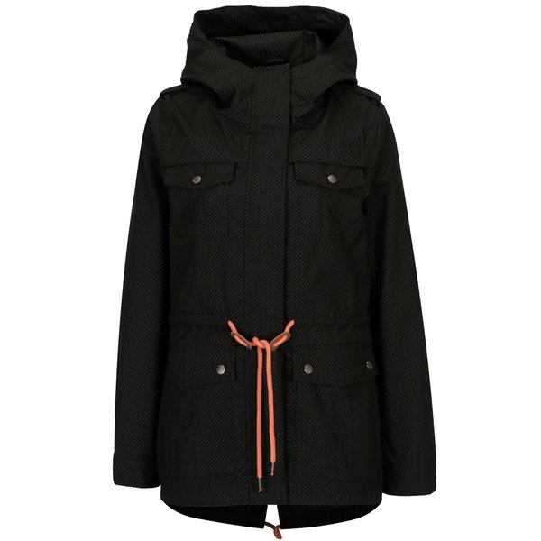 Jacheta parka neagra cu print - Hailys Emily