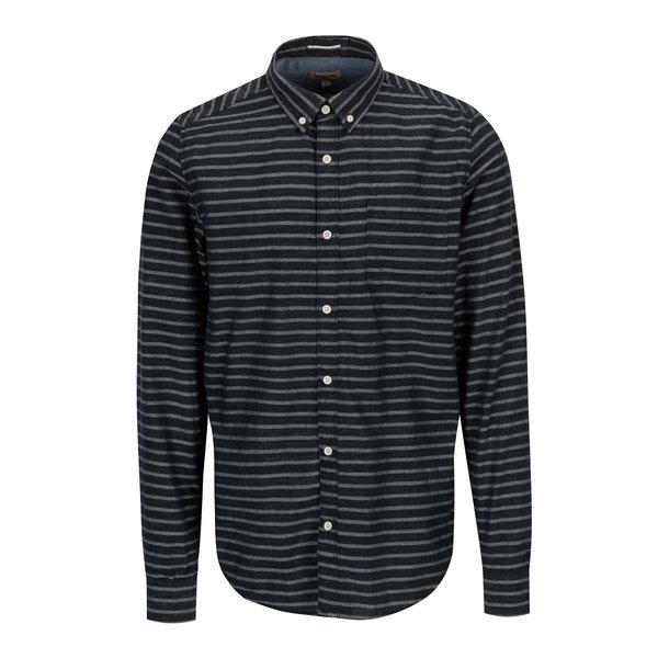 Camasa bleumarin cu dungi si buzunar pentru barbati - Garcia Jeans
