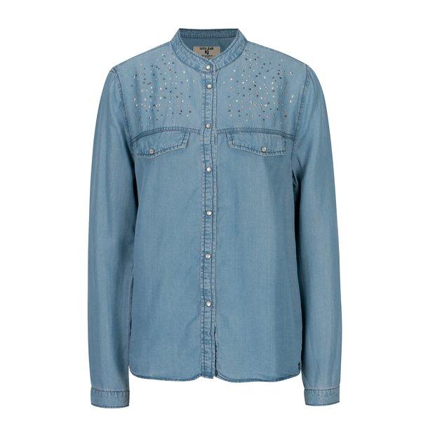 Camasa albastra cu aplicatii decorative pentru femei - Garcia Jeans