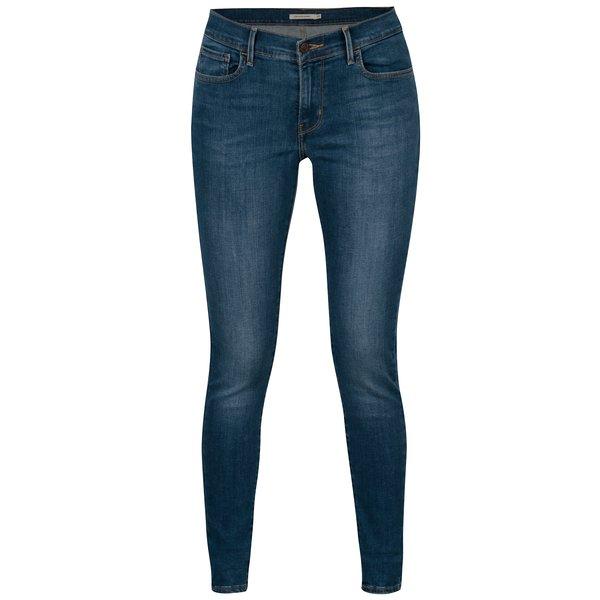 Blugi albastri super skinny cu aspect usor prespalat - Levis®
