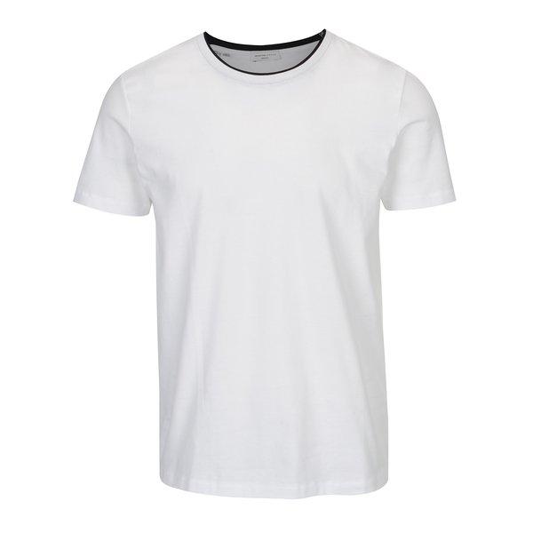 Tricou alb cu garnitura neagra Selected Homme Movo