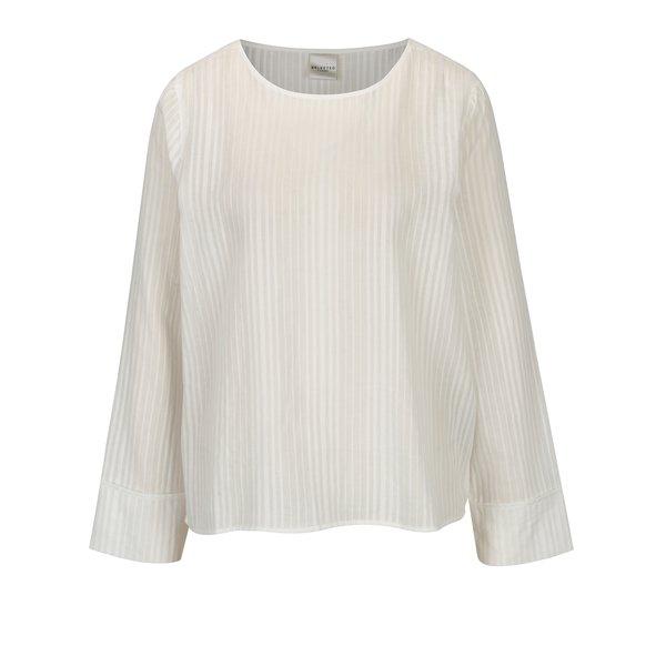 Bluza alba cu model fin – Selected Femme Luellek