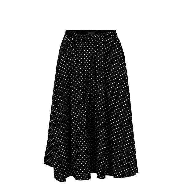 Fusta neagra cu print buline - Selected Femme Millado