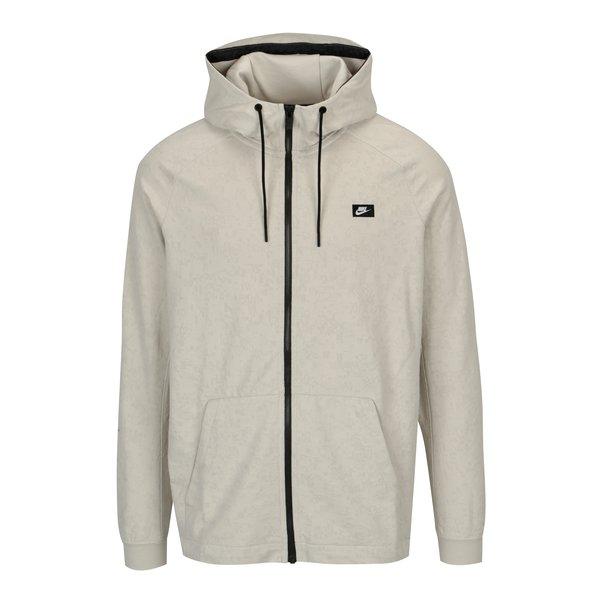 Jacheta crem cu gluga si fermoar pentru barbati Nike