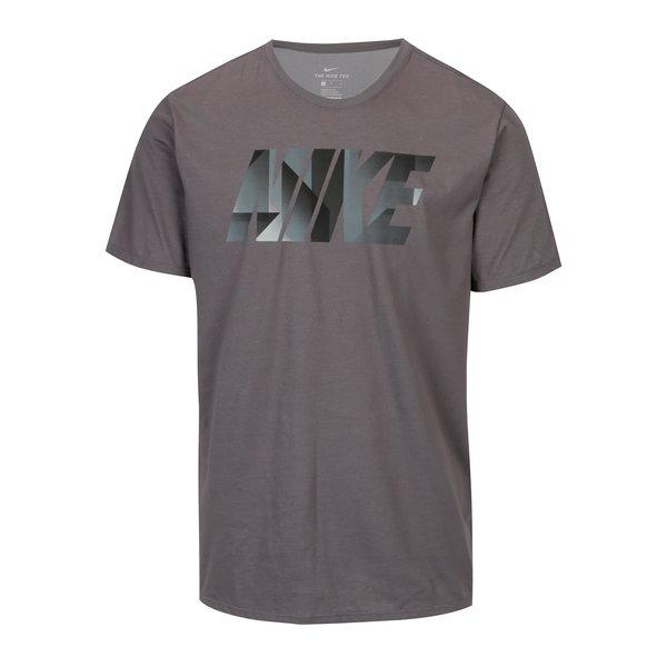 Tricou gri barbatesc cu logo Nike