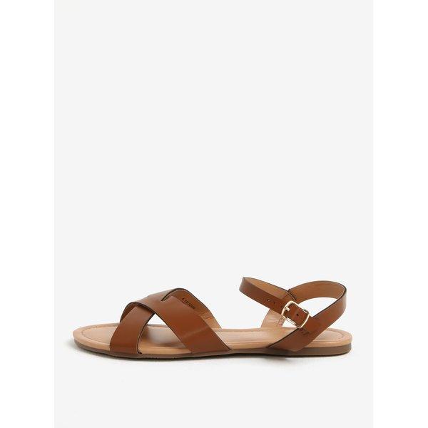 Sandale maro cu barete incrucisate Dorothy Perkis